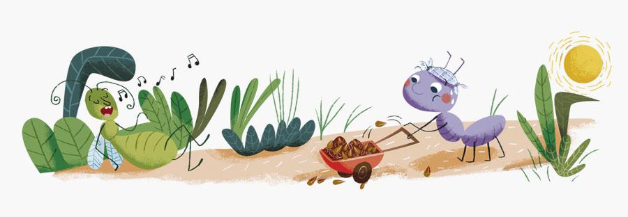Ilustración infantil para cuaderno de aula