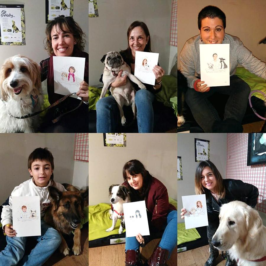 Perritos y humanos con sus ilustraciones personalizadas