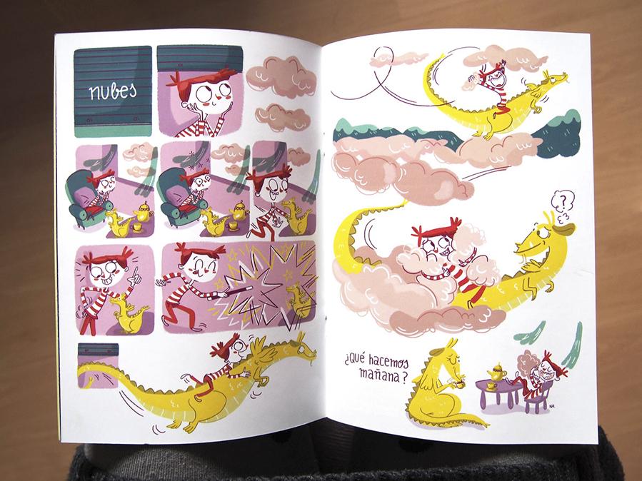 ilustración Balanzón infantil cómic