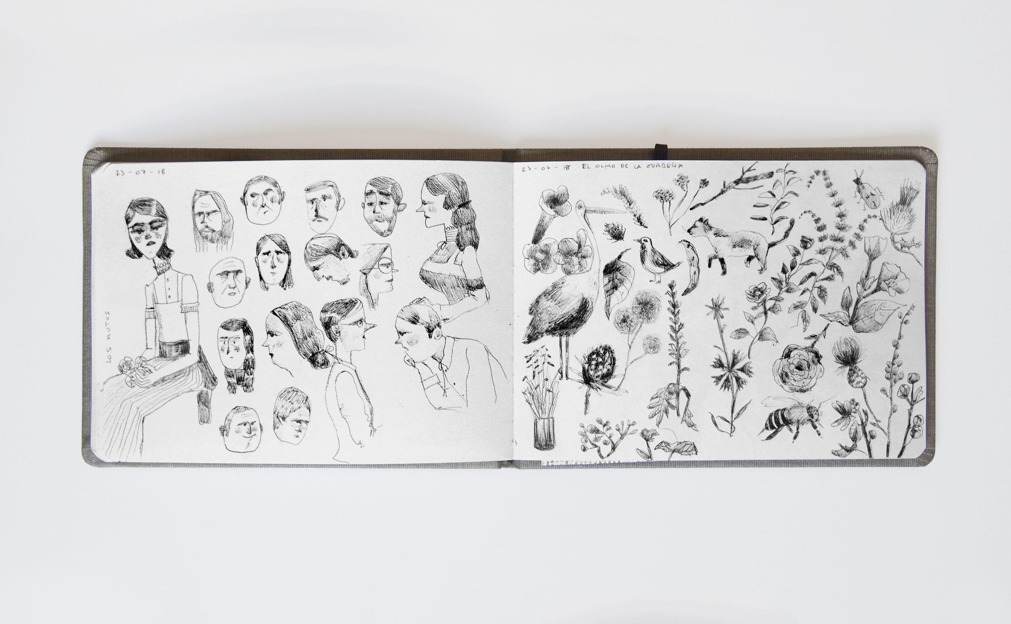 Detalle de bocetos y dibujos de mis cuadernos.